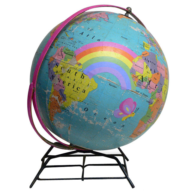 Kids Vintage World Globe Art by Wendy Gold