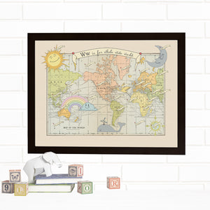 New Baby ABC Map Wall Art by Wendy Gold