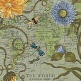 Vintage Map Wall Art Botanical Delights by Wendy Gold