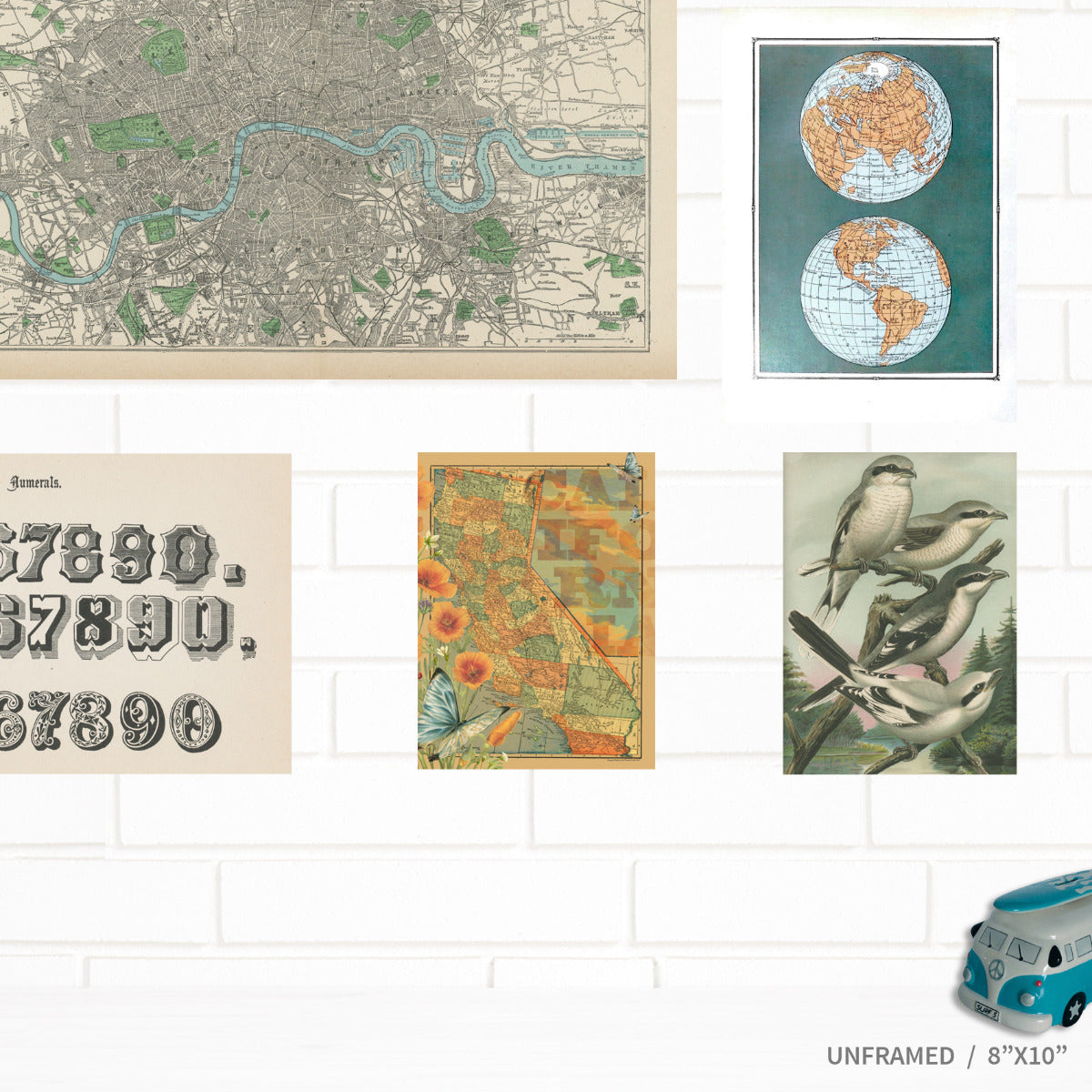 Vintage California Map Wall Art by Wendy Gold