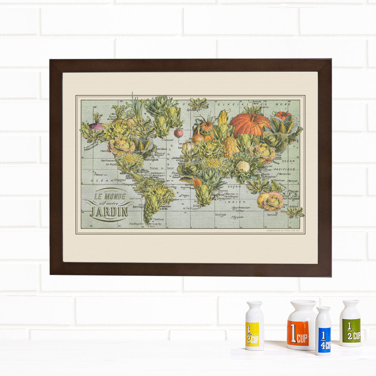 World Garden Map Wall Art by Wendy Gold
