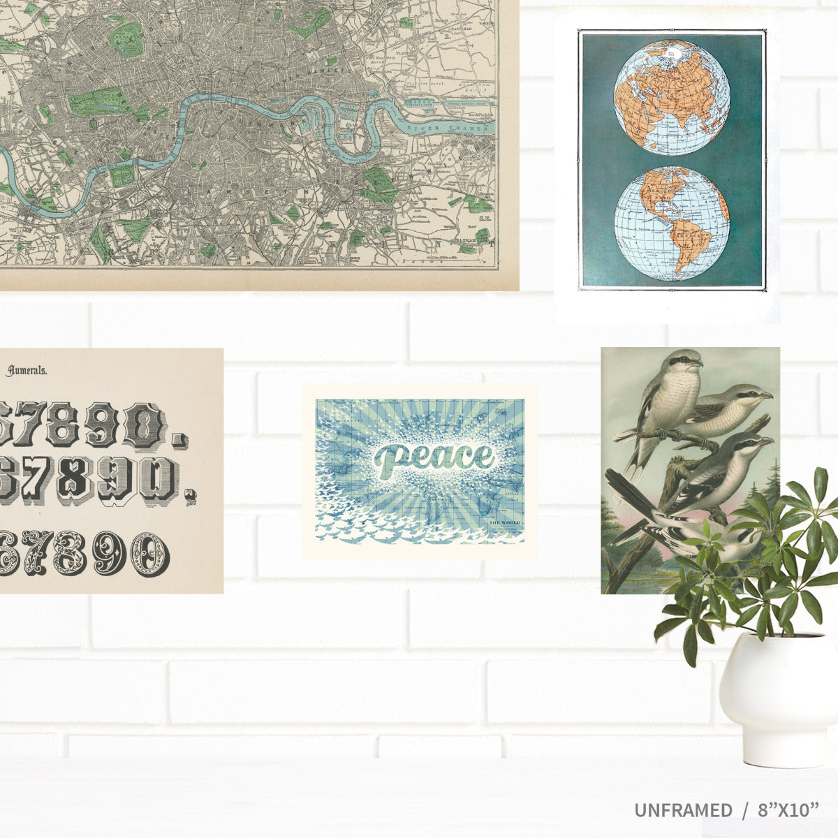 Peace on Earth World Vintage Map Wall Art by Wendy Gold