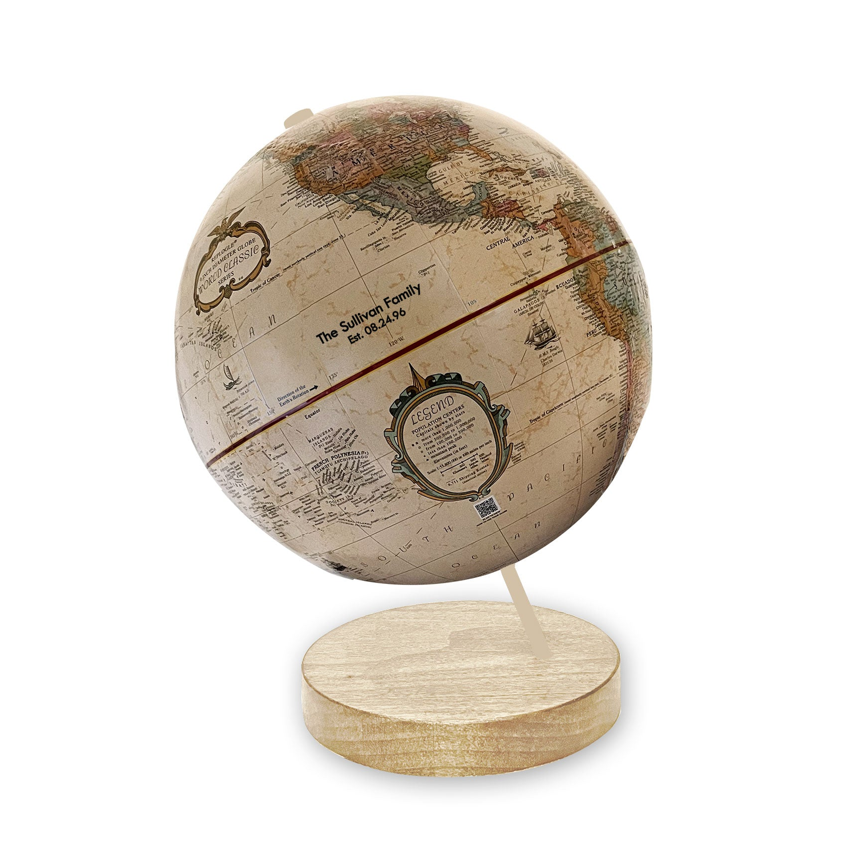 small personalized family globe