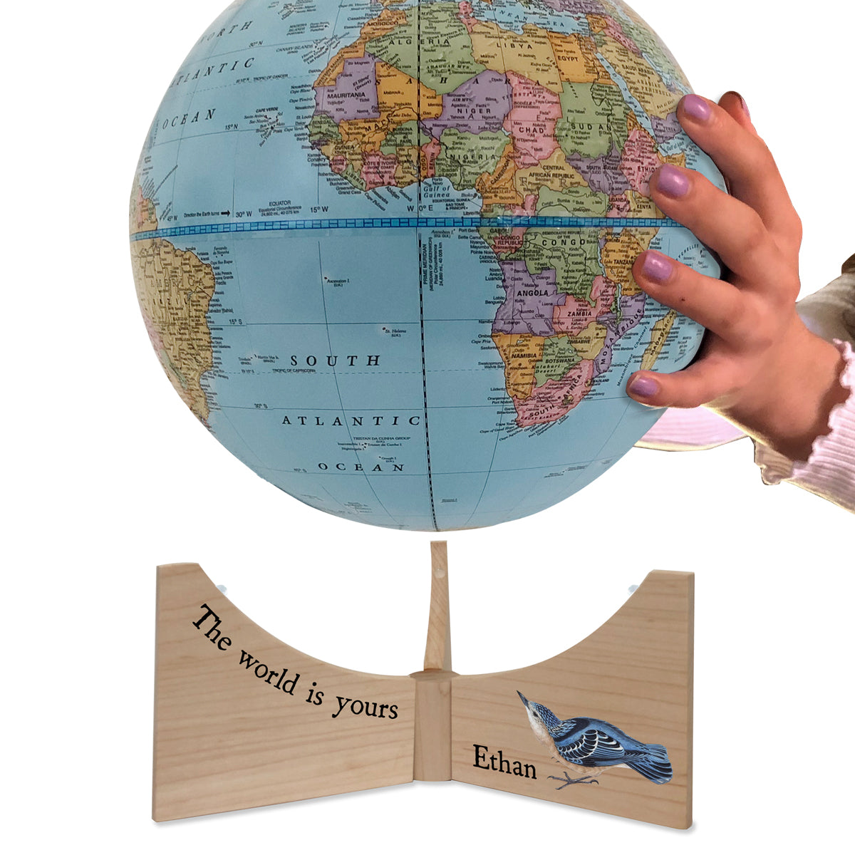 Personalized Your World Small Handheld Kids Globe