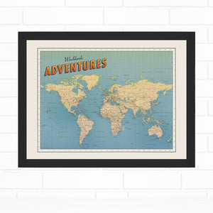 Push Pin Map World Wide Adventures Quickship