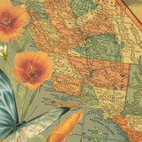 Vintage California Map Pull Down Wall Art by Wendy Gold