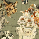 Dog Map of the World Pull Down Wall Art by Wendy Gold