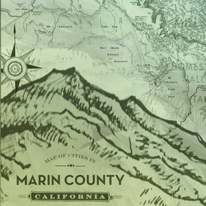 Marin County Map Art Wall Hanging by Wendy Gold
