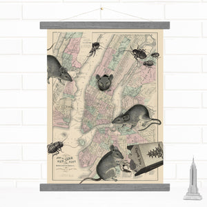 New York City Vintage Map Hanging Wall Art by Wendy Gold