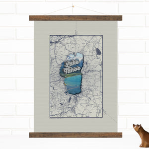 Lake Tahoe Vintage Map Wall Art by Wendy Gold