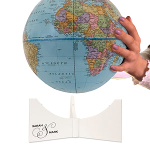 9 Inch Personalized Engraved Anniversary Desk Globe