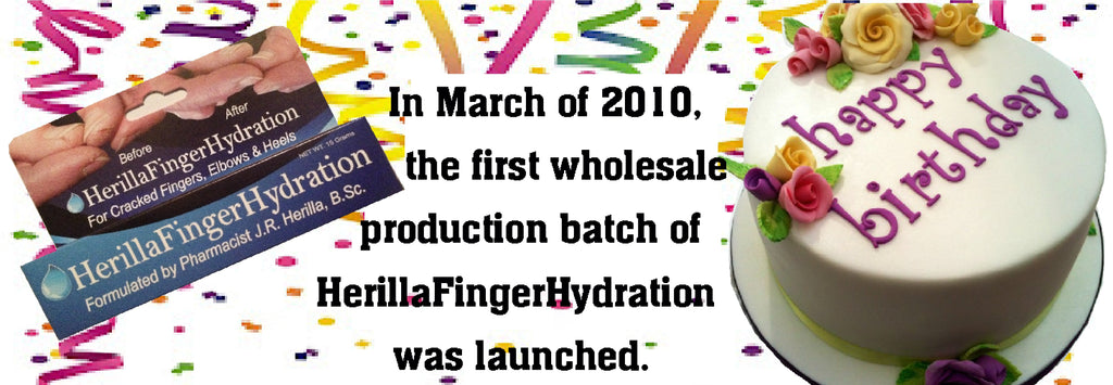 In March of 2010, the first wholesale production batch of HerillaFingerHydration was launched.