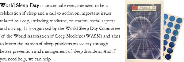 world sleep day with Holographic Acupressure Sleep Discs