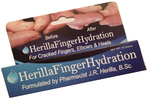 HerillaFingerHydration - Pharmacist-formulated to treat cracked fingers and skin