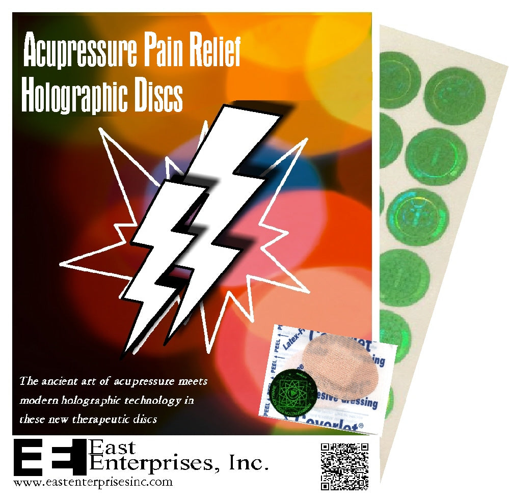 Acupressure Pain Relief Holographic Discs with Coverlet Reinforcements - (35 of each)