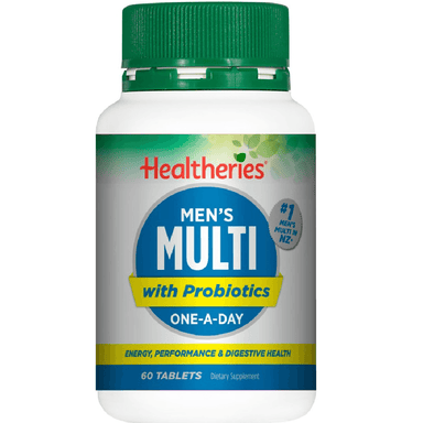 Healtheries Men's Multi with Probiotics One-A-Day - 60 Tablets