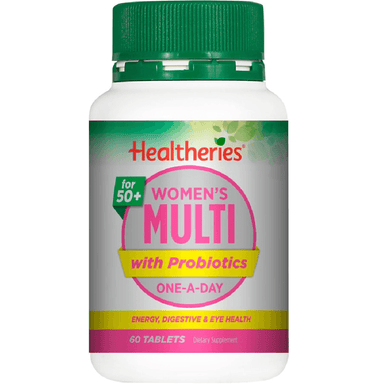 Healtheries 50+ Women's Multi with Probiotics One-A-Day - 60 Tablets