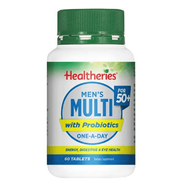 Healtheries 50+ Men's Multi with Probiotics One-A-Day - 60 Tablets
