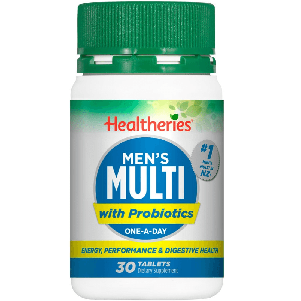 Healtheries Men's Multi with Probiotics One-A-Day - 30 Tablets