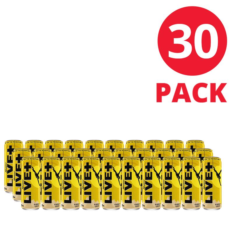 LIVE+ Energy Drink 250mL 30 Pack