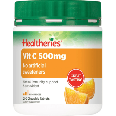 Healtheries Vit C 500mg - 200 Chewable Tablets