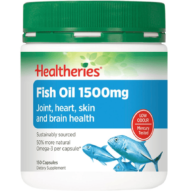 Healtheries Fish Oil 1500mg - 150 Capsules
