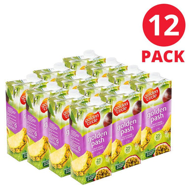Golden Circle Golden Pash Fruit Drink 1L 12 Pack