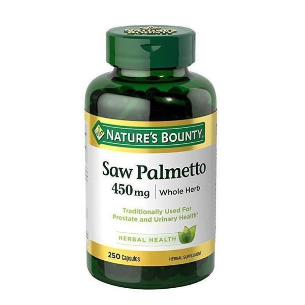 Natures Bounty Saw Palmetto 450g 250 Capsules