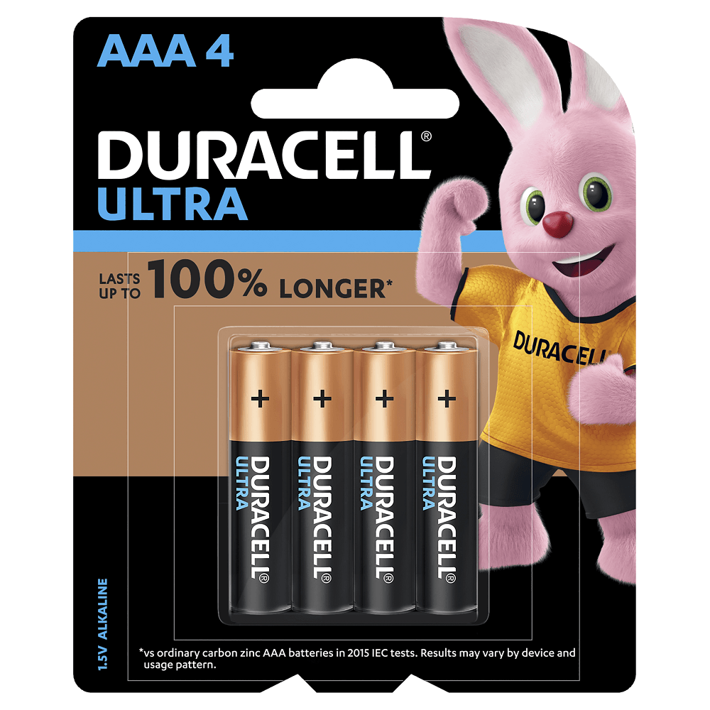 Duracell Ultra Batteries MX2400B4 1.5V AAA 4 Pack