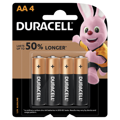Duracell Coppertop Batteries AA 4-Pack