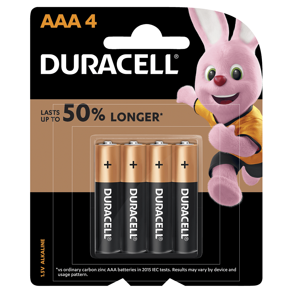 Duracell Coppertop Batteries AAA 4-Pack