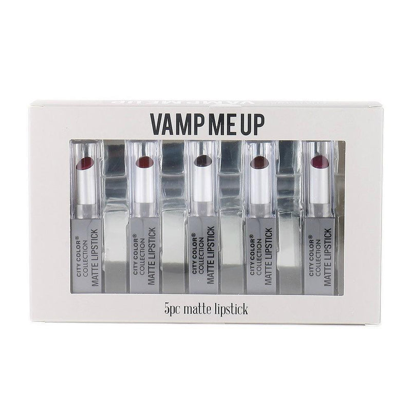 City Color Vamp Me Up 5pc Matte Lipstick