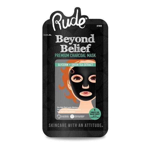 Rude BEYOND BELIEF Charcoal Face Mask