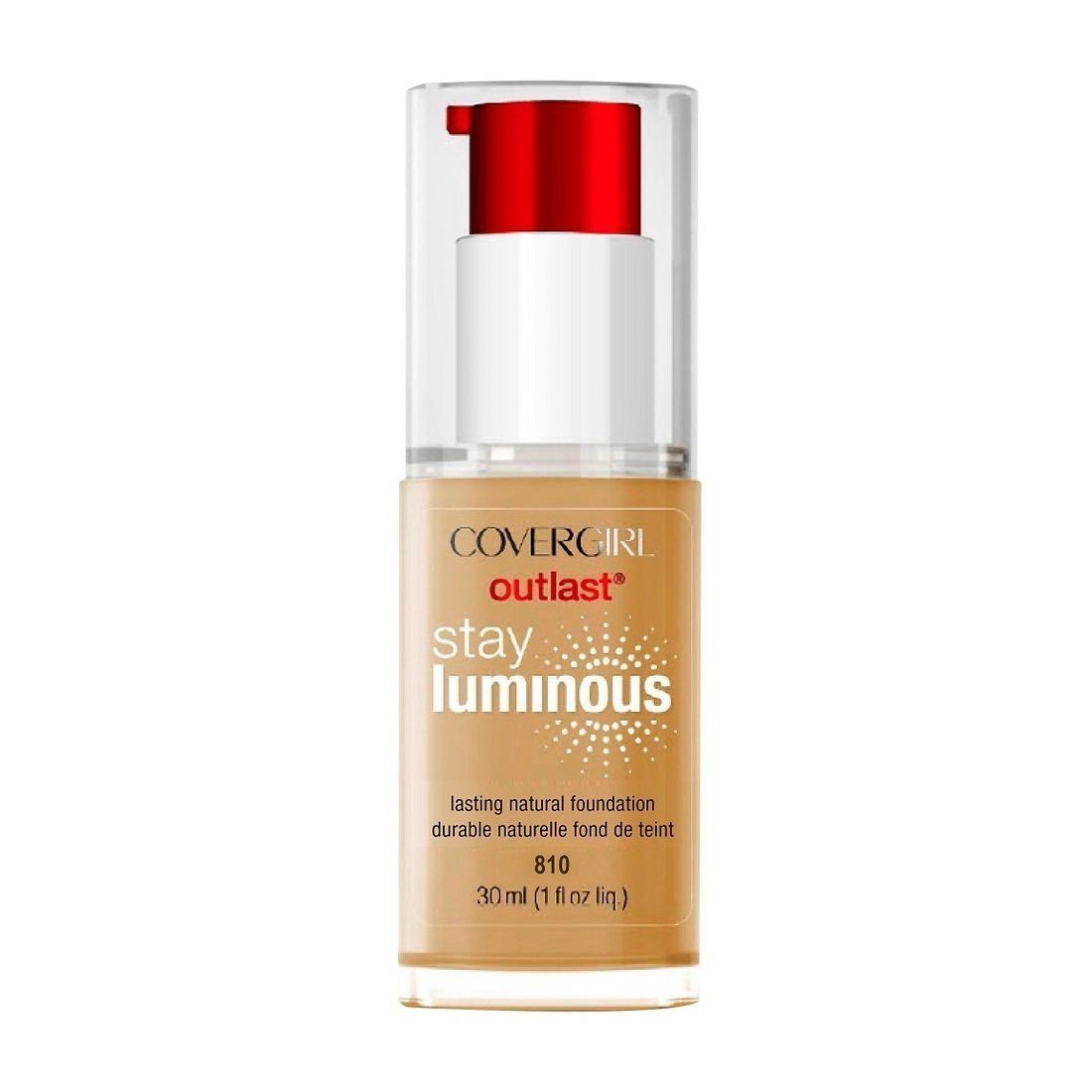 Covergirl Outlast Stay Luminous Foundation #810 Classic Ivory