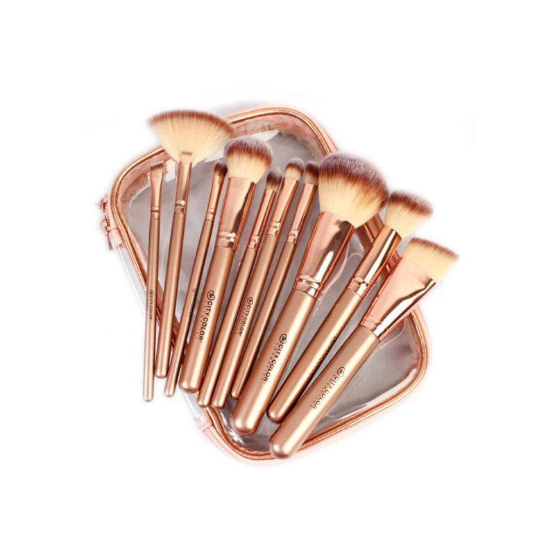 City Color Pro Rose Gold Brush Collection