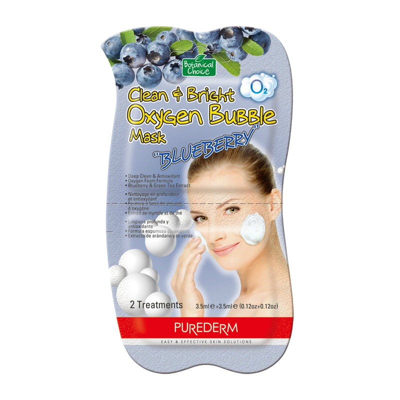 Botanical Choice Clean & Bright Oxygen Bubble Mask | Blueberry