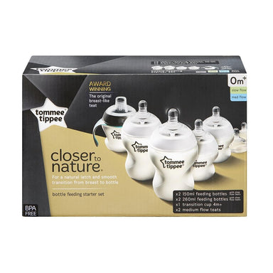 tommee tippee Closer to Nature Bottle Feeding Starter Set Starter Set