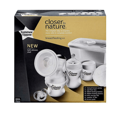 tommee tippee Closer to Nature Breastfeeding Kit Closer to Nature Breast Pump Kit