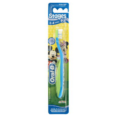 Oral-B Stages 2 Mickey 2-4 Years Extra Soft Toothbrush