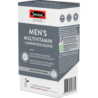 Swisse Men's Multivitamin + Superfood Blend Oral Powder