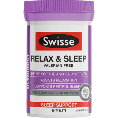 Swisse Ultiboost Relax and Sleep - 60 Tablets