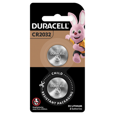 Duracell Lithium Coin Batteries CR2032 2-Pack