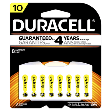 Duracell Hearing Aid Batteries S10 8-Pack