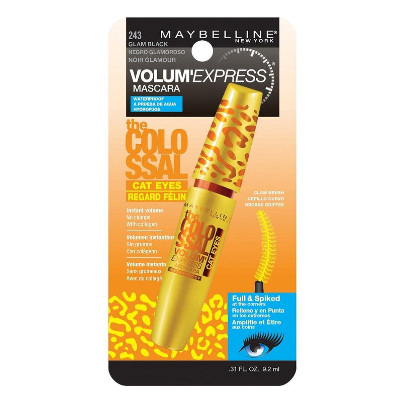 Maybelline the Colossal Cat Eyes Waterproof Mascara #243 Glam Black