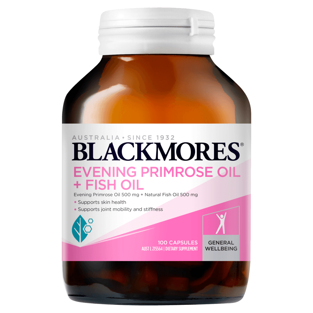 BLACKMORES Evening Primrose Oil + Fish Oil - 100 Capsules