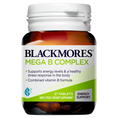 BLACKMORES Mega B Complex - 31 Tablets