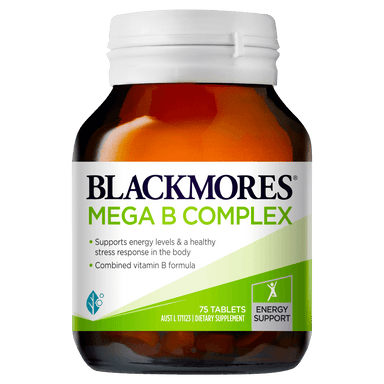 BLACKMORES Mega B Complex - 75 Tablets