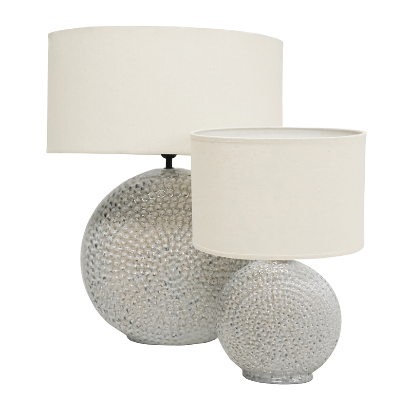 Stoneleigh & Roberson 46cm Orb Porcelain Lamp - White