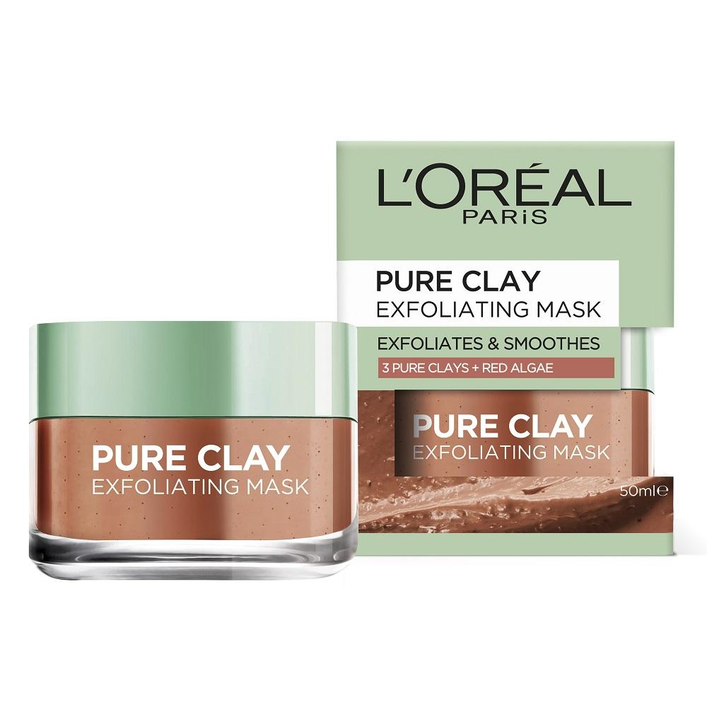 L'Oréal Paris Pure Clay Exfoliating Red Algae Mask 50mL
