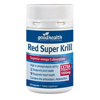 Good Health Red Super Krill Extra Strength 1000mg